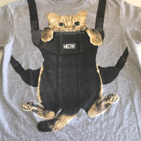1af0425610e Delta Pro Weight Other - Funny Meow Kitty Cat Baby Carrier Graphic T Shirt